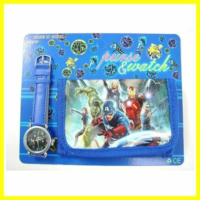 AVENGERS   Wristwatch and Wallet   Childrens Watch & Wallet Gift Set