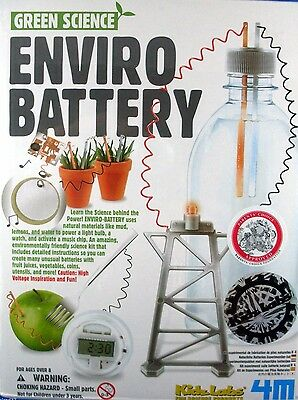 KIDZ LABS ENVIRO BATTERY DIY Science Kit Boxed PROJECT NEW & Sealed In Australia