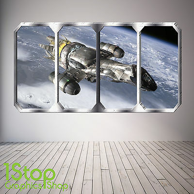 EARTH PLANETS SPACE SHIP SP3 SPACE PLANET WINDOW WALL STICKER FULL COLOUR