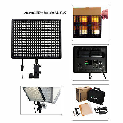 Aputure Amaran AL-528W LED Light Panel Kit CRI95+ Continuous Lighting for Video