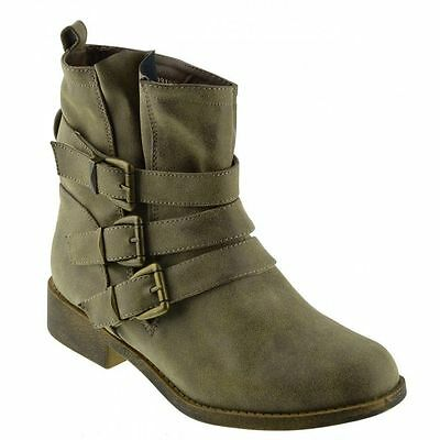 Ladies F5949 brown synthetic ankle boot by Spot On £9.99