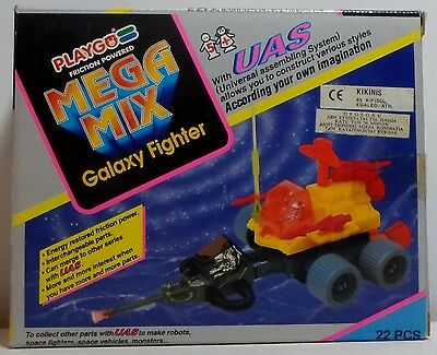 Playgo Vtg Multimac Mega Mix Galaxy Fighter Friction Joiner Zoids Sealed Box