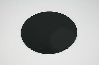 PERSPEX BLACK GLOSS CIRCLE DISC ROUND ACRYLIC *WITH POLISHED EDGES* 100mm-900mm