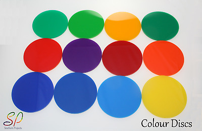 PERSPEX COLOURED DISCS ACRYLIC ROUND 3mm Thick 100mm-900mm CIRCLES