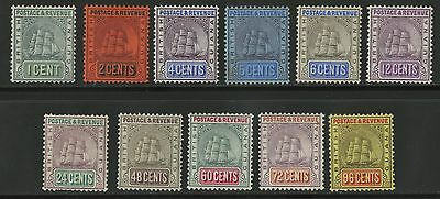 British Guiana  1905-10  Scott # 160-170  Mint Hinged - 169 thinned