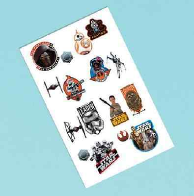 Star Wars EP VII force awkens tattoos 1 sheet, Birthday Party Loot Bag Filler