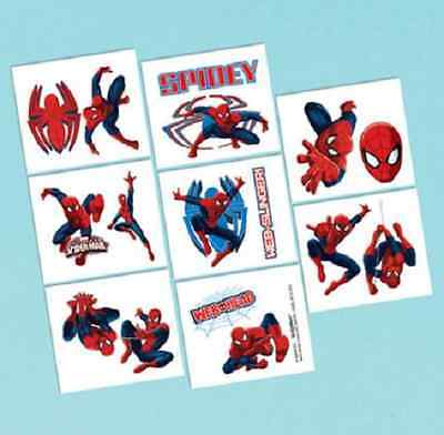 Marvel Ultimate Spiderman Tattoos Birthday Party loot bag fillers 1 sheet