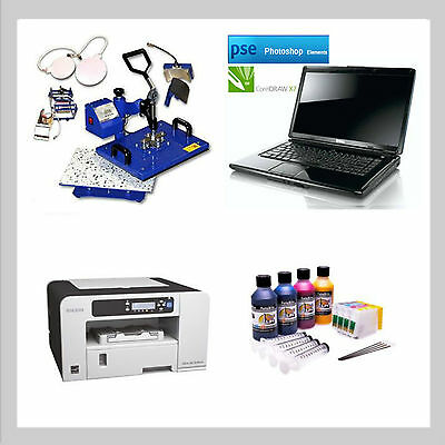A4 Sublimation Printer 5 In 1 Press Laptop Ricoh Ready To Use
