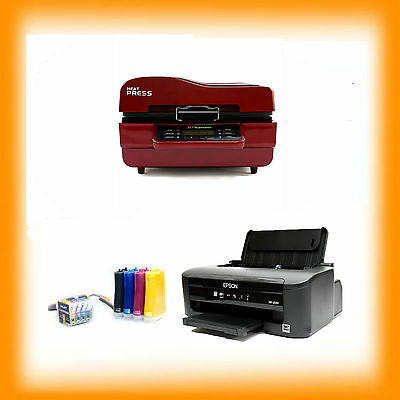 A4 Sublimation Package 3D Press Printer CISS INKS Set Up Ready To Use