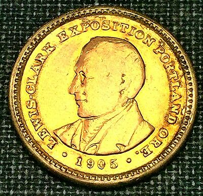 1905 Lewis and Clark $1 Gold Commerative  Ex - Jewelry