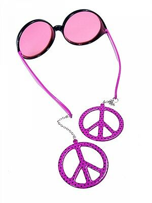 pub-PAOKR7X5 STOCK 5 PEZZI Occhiali sole travestimenti HIPPIE PARTY PEACE AND LO