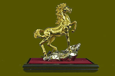 Racing Horse Man Trainer Bronze Marble Statue Sculpture And Handcrafted Art T
