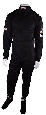 Rjs Racing Sfi 3-2A/1 New 1 Piece Racing Driving Fire Suit Adult Small Black