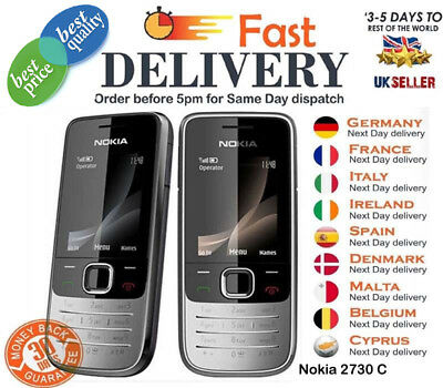 Brand New NOKIA 2730 Classic Unlocked Gsm 3G Wcdma Mobile Phone Black & Red