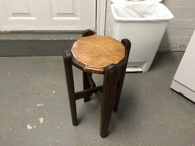 Antique Solid Wood Plant Stand