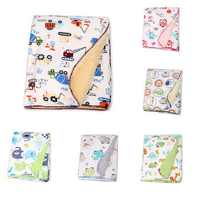 Newborn Baby Kids Soft Polar Fleece Banklet Receiving Blanket Swaddling Blankets