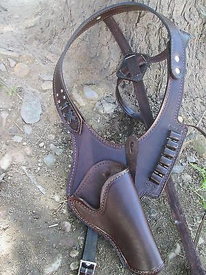 D.A.D CUSTOM LEATHER Plain Leather Western Shoulder Holster Multiple Colors