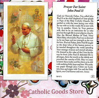 Pope Saint St John Paul Ii With Quote Paperstock Holy Card