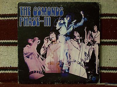 THE OSMONDS - PHASE III  (SO94280) VG cond. gatefold album w/song lyrics!