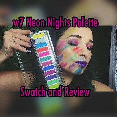 Party Neon Nights Eye Shadow 12 Colours Rainbow Palette Perfect look