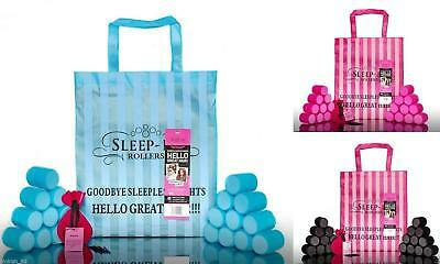 Sleep in Rollers | Black - Pink - Tourquoise - 20 x Original Soft Curlers 4.4cm