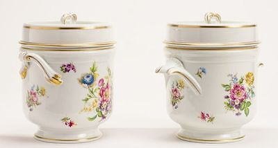 "Pair Antique French Limoges Cachepots ""GRANDEST"""
