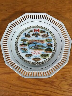 Expo 67 Montreal Canada Collectors Plate 7 1/2 Inches
