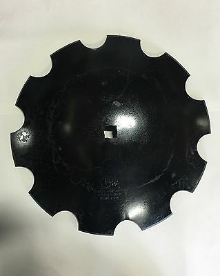"18"" Disc Harrow Blade, Notched Dual Center Hole  1""sq & 1 1/8""r  - Heavy Duty"