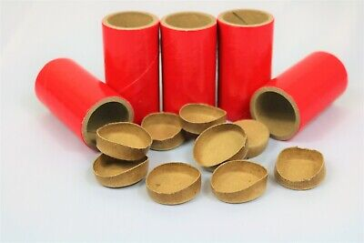 "20 HEAVY WALLED SALUTE Tubes Shells 1"" x 2-1/2"" x 1/8"" & 40 Paper Firework plugs"