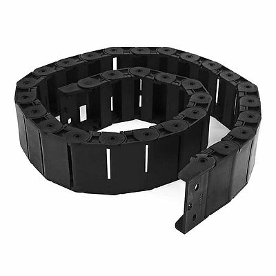 """40.55"""" Black Cable Wire Carrier Drag Chain Nested 18mm x 50mm, New"""