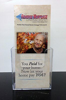 10 Pack. Clear Acrylic Brochure Holder Counter Top Brochure Display., New