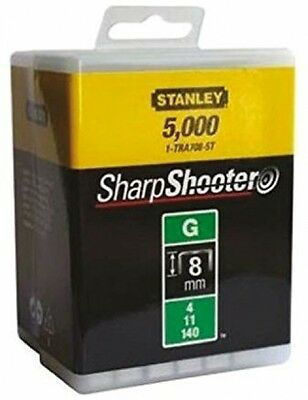 Stanley 1-TRA705-5T 8mm G-Type Heavy Duty Staples (5000 Pieces) NEW