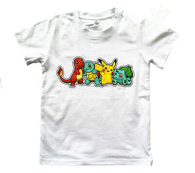 UK SELLER Pokemon Go Boys Girls Unisex Kids T Shirt Pikachu Charmander Squirtle