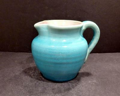 """North Carolina Pisgah Forest Turquoise and Pink Pitcher- 4""""  - MINT"""