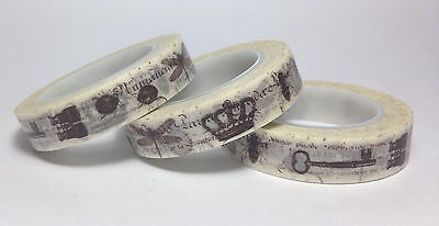 Washi Tape Thin Vintage Collector 10Mm X 10Mt Scrap Planner Craft Wrap Mail Art