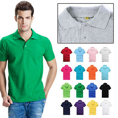Casual Short Sleeve T Shirt Polo Tee Cotton Sports T Shirt New Men's Slim Fit