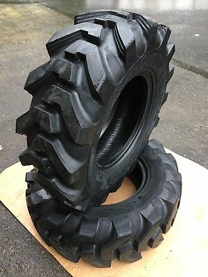 2 NEW 12.5/80-18 Camso SL R4  Backhoe Tires R4 - 12 PLY