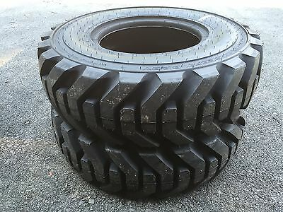 2 NEW 12.5/80-18 Galaxy Beefy Baby Backhoe Tires R4 - 14 PLY - 35/32nd Tread
