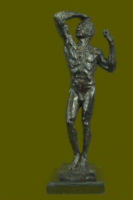 Rodin Lovely Quality Pure Bronze Sculpture Strong Man Abstract Modern Deco