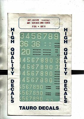 Tauro Model 48-510 - Decals 1/48 Ami Serial And Codes - Nuovo