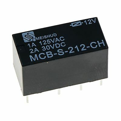 Subminiature PCB 12V Signal Relay DPDT