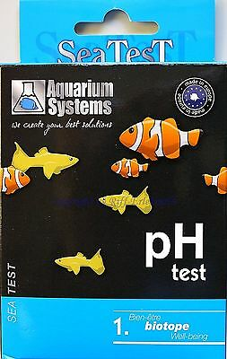 Sea Test pH Test MHD 4/15 Aquarium Systems Wassertest Süß- Meerwasser