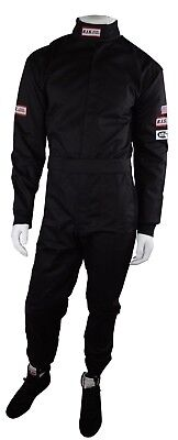 Rjs Racing Sfi 3-2A/1 New 1 Piece Racing Driving Fire Suit Adult 2X Black Xxl