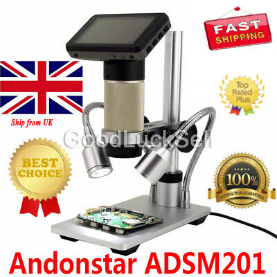 Andonstar HDMI digital inspection microscope PCB repair 10x-300x SMT SMD Camera