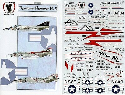 EAGLE STRIKE PRODUCTIONS 72032 - DECALS 1/72 PHANTOMS PHOREVER Pt. 3 NUOVO