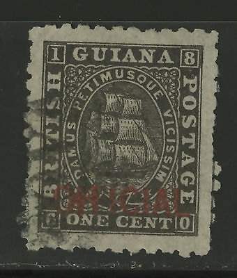British Guiana  1875  Scott #  O 1  USED