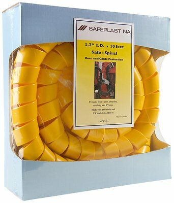 "Pre-Cut Spiral Wrap Pneumatic Hydraulic Hose Protector, 2.0"" OD, 10""L, Yellow"