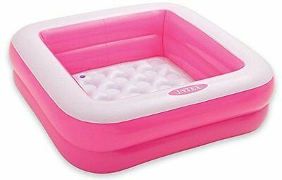 Intex Square Baby Pool, Soft Inflatable Floor Design, Extra Comfort, Pink