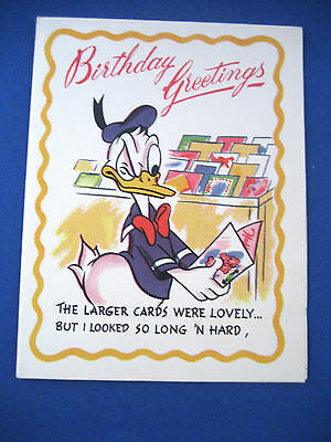 """""""Donald Duck"""" Birthday Card / Dated 1950's"""