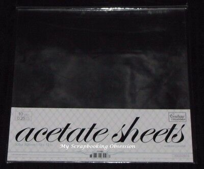 "Couture Creations 'ACETATE SHEETS' 12x12"" 10pk Clear 0.25mm Thickness"